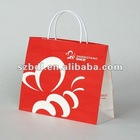 New Design Art Paper bag with Special Soft Rubber Handle