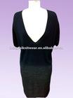 ladyies 3/4 long sleeves new black dresses