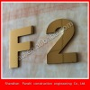titanium metal stainless steel letter sign