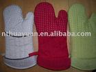 100%cotton printed oven mitten