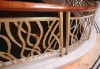 stainless steel wood stair rail