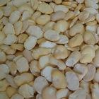 peeled broad beans in half