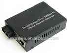 10/100/1000 Mbps Dual Fiber Media Converter with inner power supply