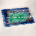 colored glass tray