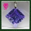 charming sapphire cz cubic zirconia stone pendent