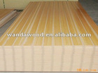 slotted mdf/melamined slotted MDF