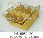 rattan with iron frame table-ware basket, knife and fork holder