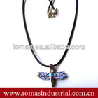 Hot design alloy colorful cross dog tag necklace