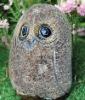granite stone owl carving (1153-025-900)