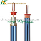 Glass crossed heat pipe vacuum tube