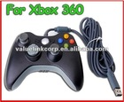 NEW BLACK WIRED CONTROLLER FOR XBOX 360+PC WINDOWS