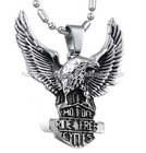 316L stainless steel eagle design pendant