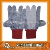 polka dots gloves, canvas gloves with pvc dots