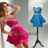 P1208 Fahsion Sparkled Diamond Beaded MIni Cocktail Dresses/Pop Prom Dresses 2012