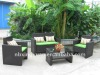 2012 Beautiful KD rattan sofa with aluminium frame