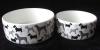"5""/7""/9"" ceramic dog&cat dish with animnal design"