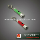 TC-233 Mini Colorful 1 LED Flashlight with Keychain