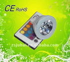 3W mr16 led rgb spotlight with two year warranty