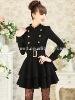 fashion style for ladies wool dress coat