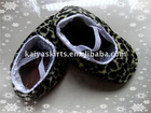 leopard printed baby shoes