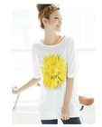 2012 new korean ladies'fashion printed half sleeve T-shirt