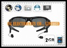 2GB 4-in-1 Functions MP3 Sunglasses Camera DVR 640x480 25FPS + Micro SD Slot