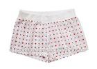 girls white printed woven rib waist sleep shorts