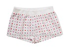 girls white printed woven rib waist sleep shorts