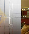 4-12mm acid etched glass- carpet for indoor decoration