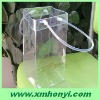foldable clear pvc ice cooler bag with pipe handle