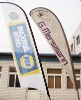 polyester digital sublimation printing teardrop banner flag
