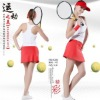 lady's new fashion sexy sportswear yoga sets fitness white vest top and red skirts PTT mix sizes good quality and nice fitting