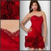 Sheath P-ED-364 Taffeta Short Prom Evening Dress Sweetheart Neckline