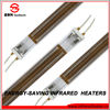 infrared industrial electric quartz heaters with golden plated