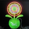 with colorful lights flower USB fan