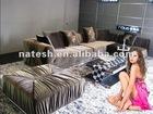 silk fabric sofa set