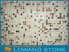 square marble checkerboard mosaic tile