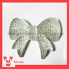 butterfly tie resin beads rhinestones in crystal color