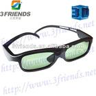 2012 New fashion wireless active shutter 3D TV glasses