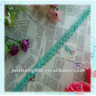 the latest design blue knitted trim with sequin