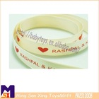 wedding favors love heart customized printed ribbon