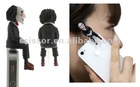 SAW Jigsaw Puppet Jack Cover earphone Jack plug for iphone ipad and all 3.5mm port