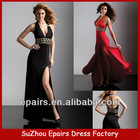 LND26 2013 sexy long beaded waist deep V-neck backless long prom evening dress