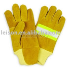 Fire fighting Gloves with flame retardant waterproof and reflective strap