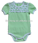 100% cotton lace Baby romper with factory direct price