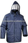 PU rain quited parka for men