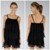 Fashion Elastic Lace Braces Tank Tops,Ruffle Party Dress