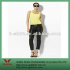 Hot selling ladies vest made of 100% cotton