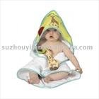 organic cotton/bamboo& cotton hooded baby towel BC-BR1175