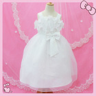 White embroidery wavy child dress